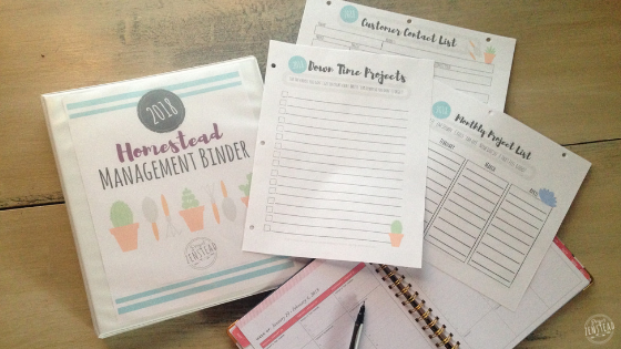 The Homestead Management Binder is a free printable resource to help you organize and track your homestead happenings!