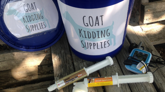 How to stock your goat kidding kit and be prepared for kidding season, including a full list of supplies!
