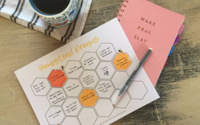 Achieve your Homestead Goals this Year + Free Goal Planning Worksheet